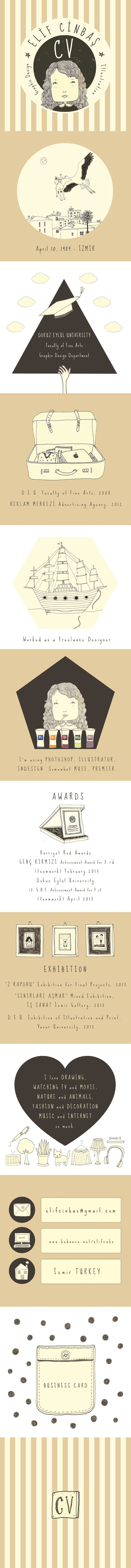 17 best ideas about my cv creative cv design illustrations of my cv design by elif cinbaş via behance