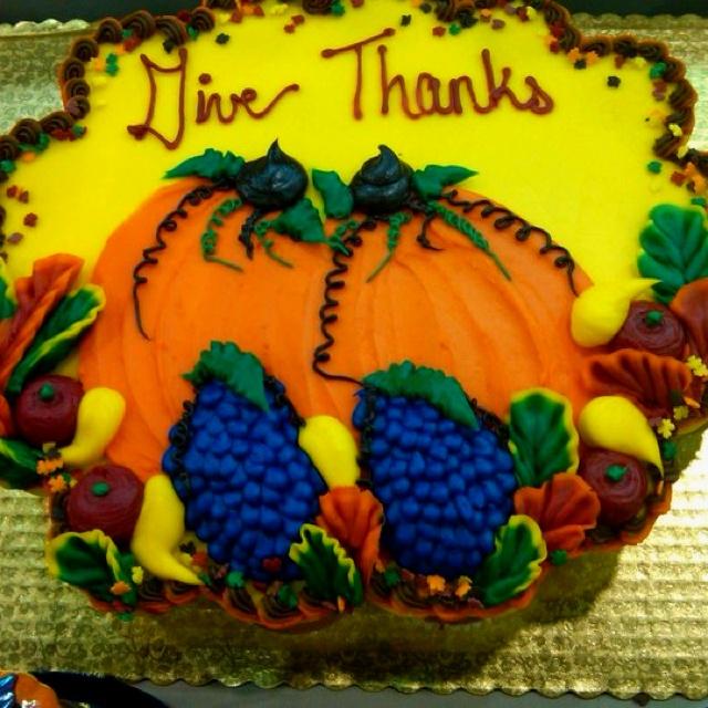 Thanksgiving Food Cake