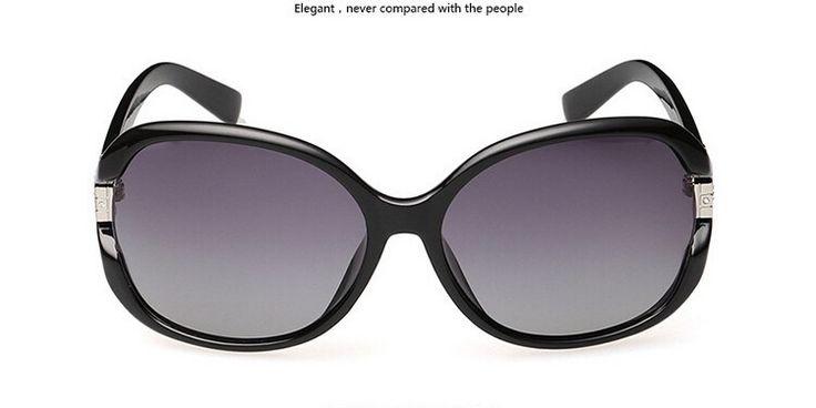Поляризованных солнцезащитных очков женщин горный хрусталь женской солнцезащитные очки черный óculos De Sol Feminino gafas де сол с чехол 6046 купить на AliExpress