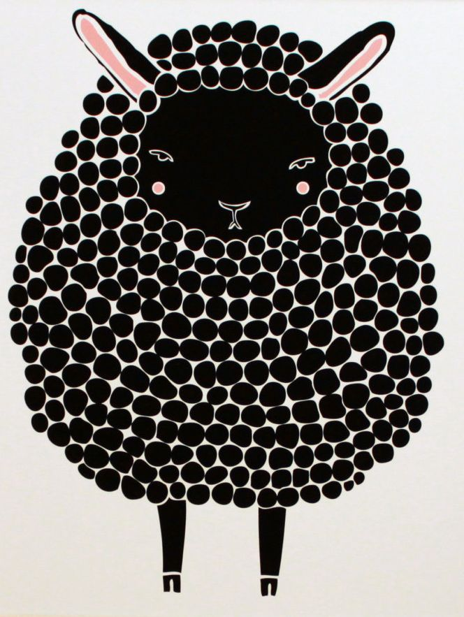 black sheep print