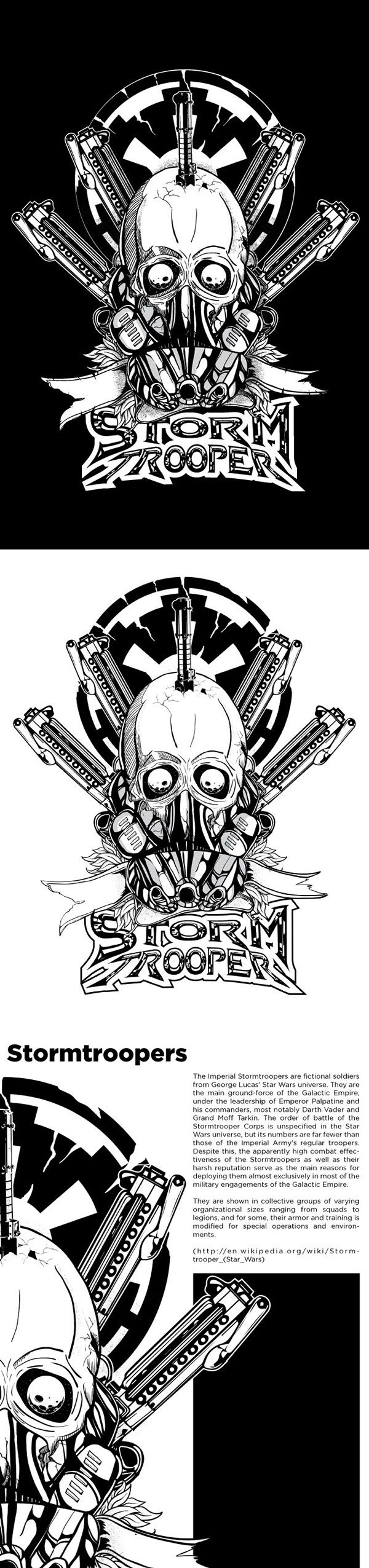 fighting spirit stormtroopers on Behance