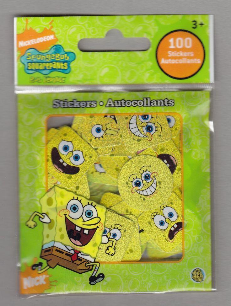 Sandylion+Nickelodeon+SPONGEBOB+SQUAREPANTS+-+100+Die+Cut+Stickers++-+DC09
