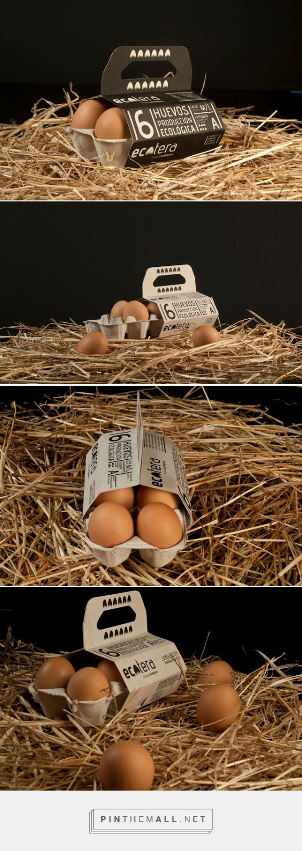 Ecotera Eco Eggs packaging designed by Javier Garduño Estudio de Diseño​ - http://www.packagingoftheworld.com/2015/11/ecotera-eco-eggs.html