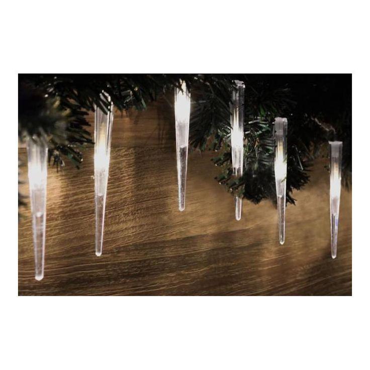 Vánoční venkovní osvětlení rampouchy 60 LED, studeně bílé, do zásuvky - www.guge.cz