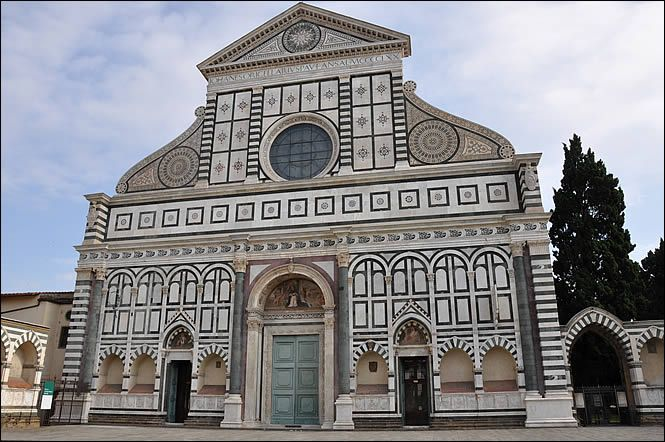 La façade de l'église Santa Maria Novella - Florence - 1470 - Alberti