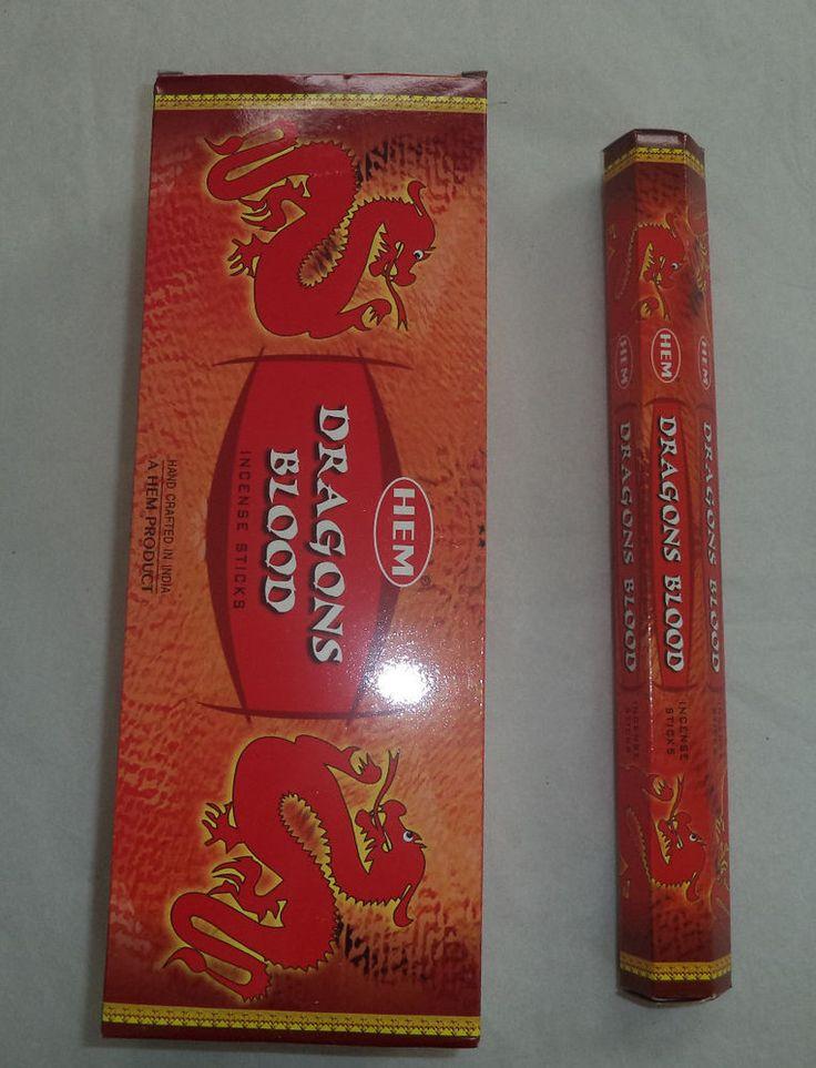 Hem Dragons Blood Incense Bulk 6 x 20 Stick Box, 120 Sticks (Dragon's) Wicca  #Hem