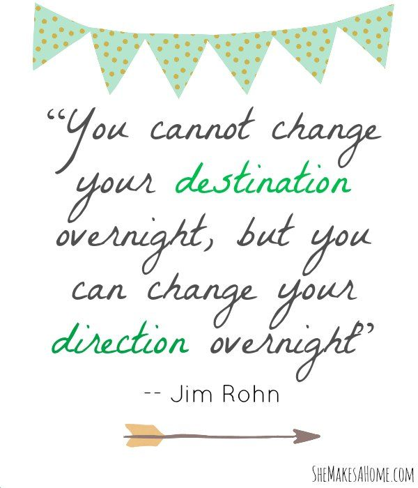 You can change your direction overnight - Jim Rohn #quote | Breakthrough Boot Camp
