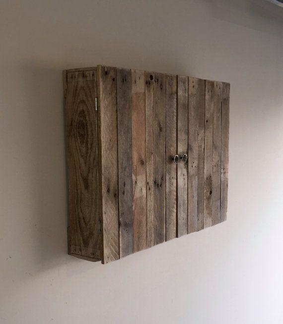 Wallmounted Pallet TV Cabinet by PalletGurus on Etsy