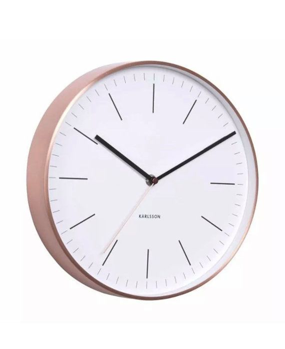 Minimal Copper Wall Clock