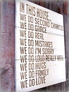 In this house...Wall Art, Crossword Puzzles, Quote, Front Doors, Second Chances, House Rules, In This House, Families Mottos, Families Rules