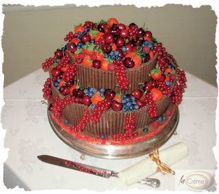 wedding cakes decorated with fruit - Google Search