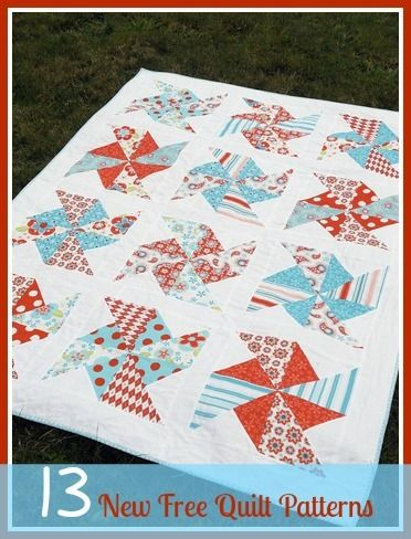 13 New Free Quilt Patterns + 8 Easy Quilt Patterns | Looking for some gorgeous quilt patterns? Be sure to check out our updated list of new quilt patterns!