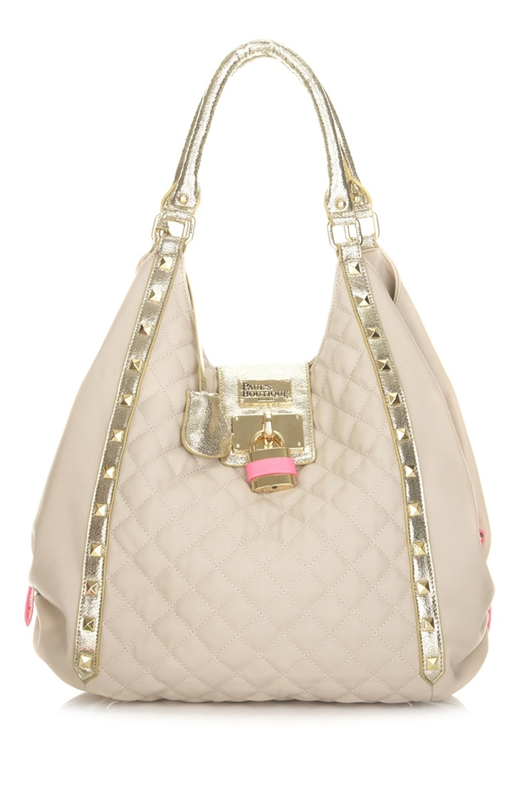 Pauls Boutique | Quilted Gracie in Beige and Gold |  Love this
