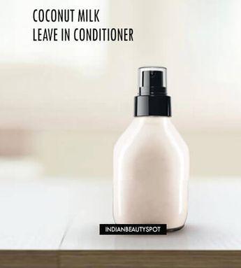 DIY Homemade Coconut Milk Leave in Spray on Conditioner for super shiny soft hair (Vegan)