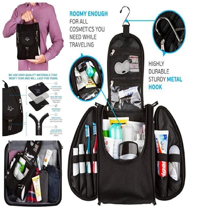 Bag Hanging Kit Large Toiletry Travel Organizer Cosmetic Capacity Men Women NEW #42Travel