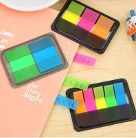 Novedad Caramelo Fluorescente de Color Auto-Adhesivo Etiqueta autoadhesiva Memo Pad Sticky Notes Papelaria Escolar School Office Supply