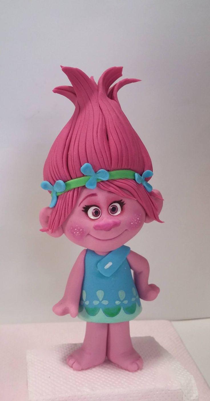 ~ FIMO/POLYMER CLAY IDEAS ~Princess Poppy Troll design