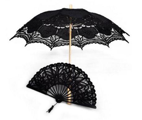 Umbrella & Fan - Cotton Lace Lolita Parasol – Moxie Mama Wear