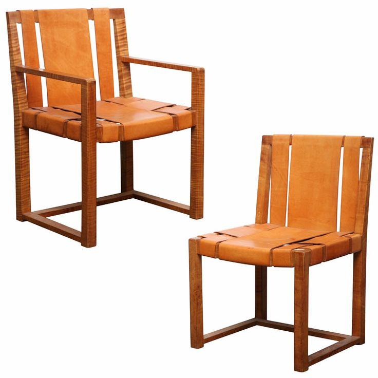Two Custom Designed Side Chairs by T.H. Robsjohn-Gibbings.  c.1940
