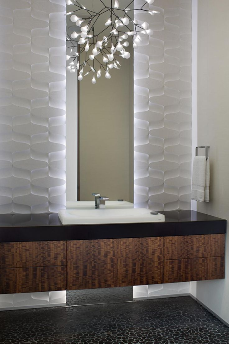 17 best ideas about small powder rooms on pinterest for Powder room vanities for small spaces