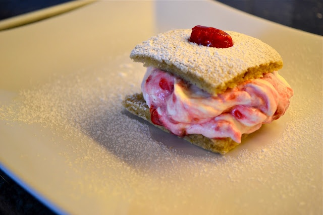 ... but would be too messy to eat as a whoopie pie. Raspberry Lemon Pie