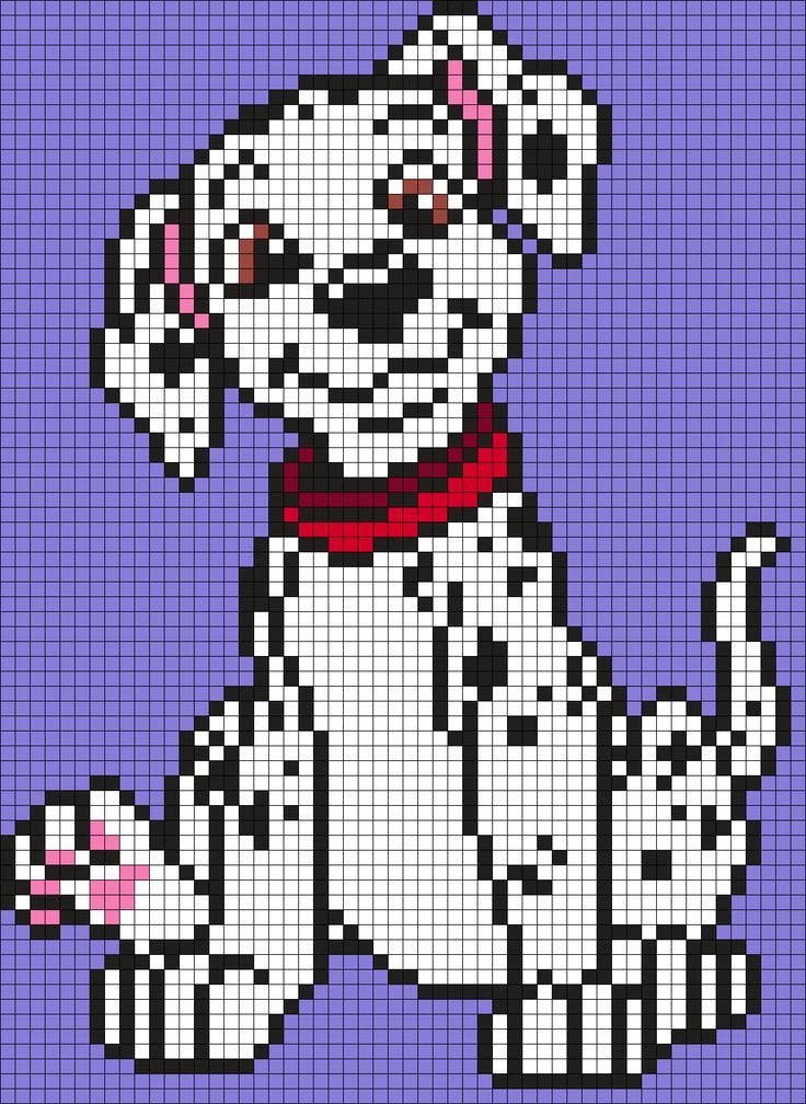 Dalmation Puppy From 101 Dalmations Perler Bead Pattern | Bead Sprites | Characters Fuse Bead Patterns