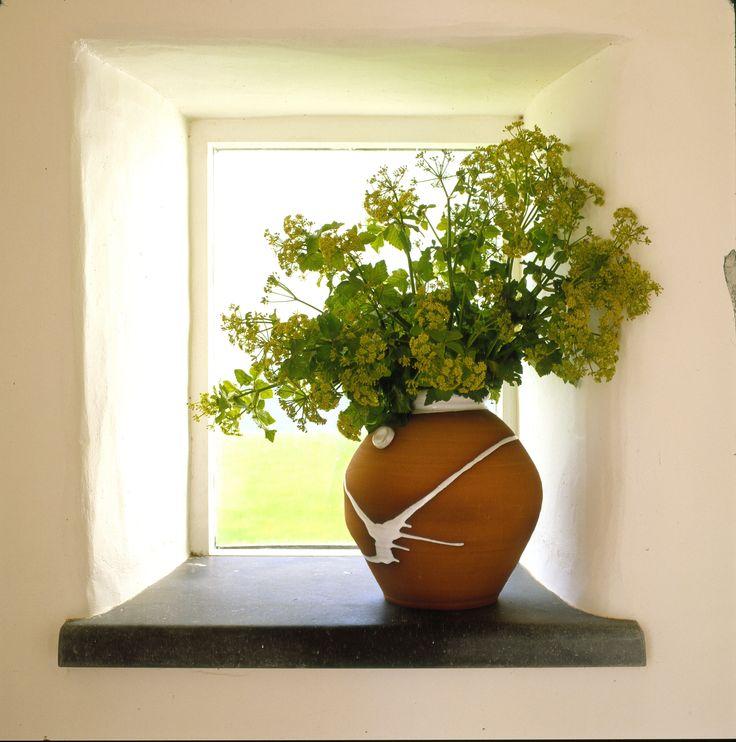 Medium Classic Barrel vase on the window sill at Stephen Pearce Showroom Shanagarry, East Cork, Ireland