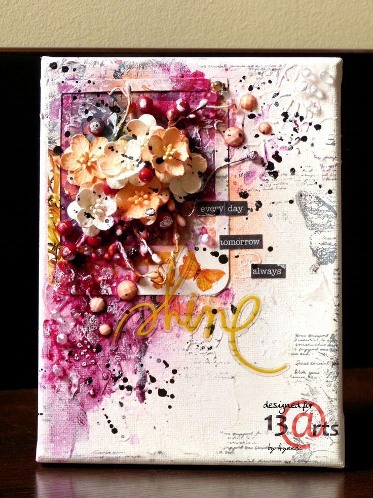 13 pasji by Ayeeda: Traveling with mini art kit Mini art kit w podróży mixed media canvas
