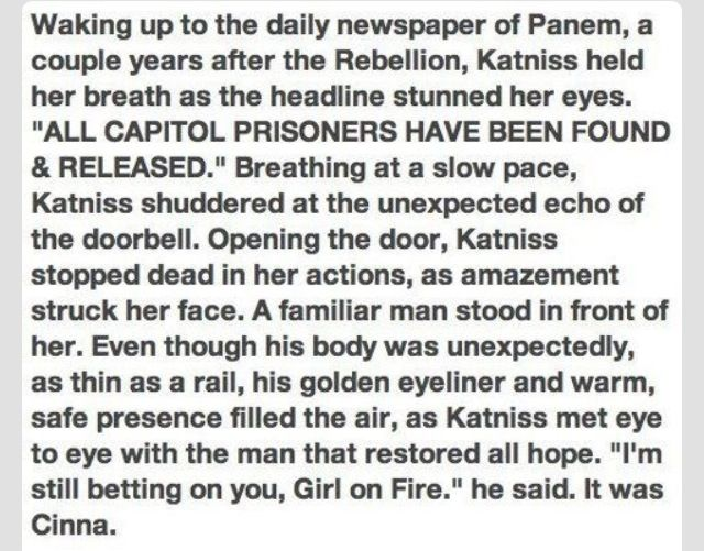 This needed to happen at the end of mocking jay after she goes back to 12