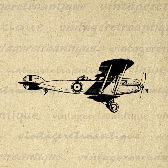 Digital Graphic Antique Airplane Printable Plane Download