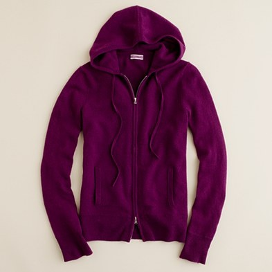Cashmere zip front hoodie.. Yes! One in Plum, White, Grey, Navy, Black