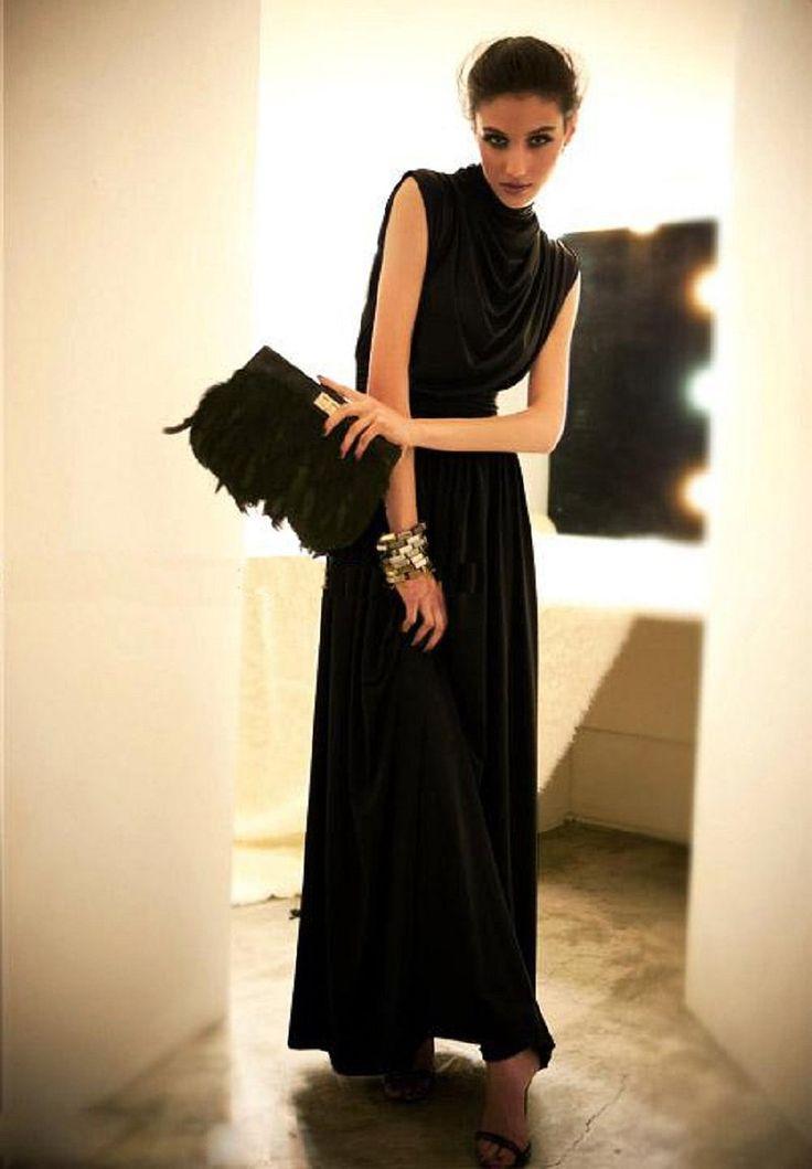 Amazon.co.jp: ロングドレスワンピース マキシドレス パーティドレス 結婚式、謝恩会、パーティなどにも (ブラック): 服&ファッション小物通販