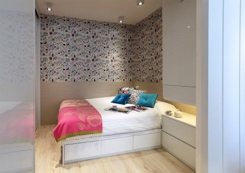 bedroom the queensized bed hk20000 finished in semigloss laminate wall panelswall