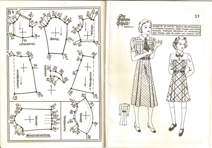 Lutterloh 1939 Book Of Cards - Models Diagram Card Page 54 & 55
