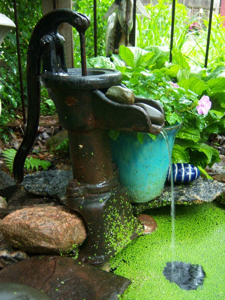 98 best water features in the garden images on pinterest for Garden pond water features