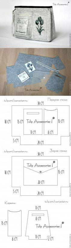 Как сделать из фетра загадочный «тинтамар», или шьем органайзер в сумку