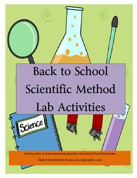 $  A super BACK TO SCHOOL buy!!!  (grades 4-8)  Direction, back ground information and student lab sheets for 3 labs!!!  A great introduction to the scientific method, these labs can also stand alone.  Cheap, easy and fun!!!