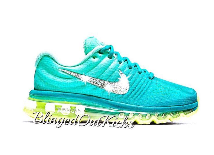 Women's Crystahhled - Swarovski Nike - custom shoes - with Swarovski  crystal details - sparkle nikes - air max