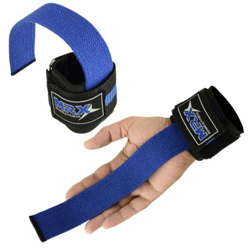 WEIGHT LIFTING BAR STRAPS GYM BODY BUILDING FITNESS WRIST SUPPORT BANDAGE BLUE ** Click image to review more details.