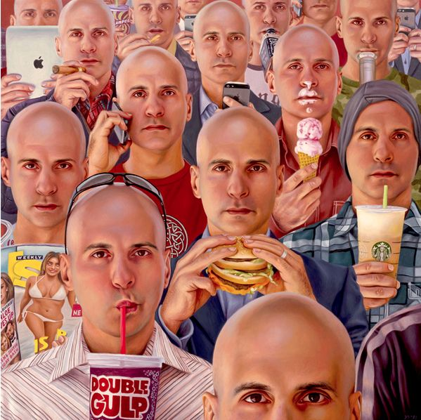 "Alex Gross: ""Future Tense"" ...the super consumer... There is something better and more lasting...."