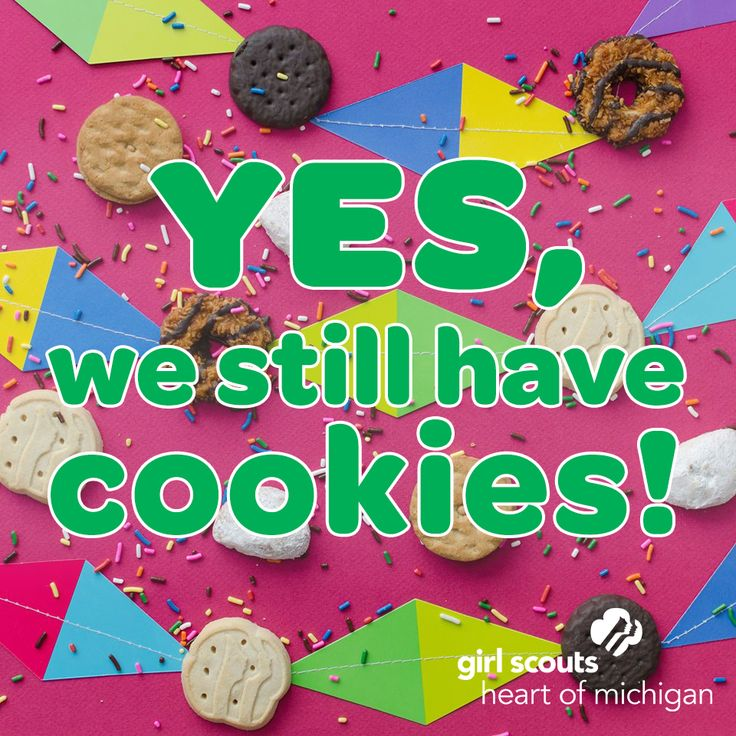 "This sharable image answers the question: ""So ... do you girls still have Girl Scout Cookies?"" You bet we do! Visit girlscoutcookies.org and enter your zip code to find Bonus Booths near you!"