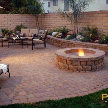 Top 25 best concrete backyard ideas on pinterest for Paved garden designs