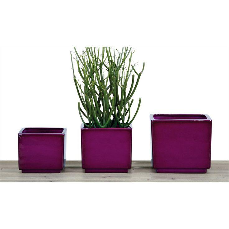 Tuscan Path 13 x 11cm Pure Violet Glazed Scheurich Indoor Pot $7