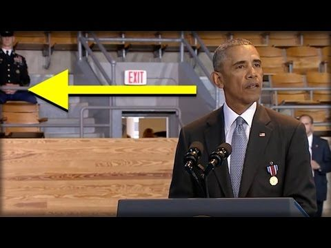 WHOA! AS OBAMA GAVE HIS SPEECH TODAY, EVERYONE NOTICED NASTY THING BEHIND HIM! - YouTube