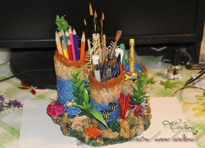 Подставка под карандаши и ручки Коралловый риф