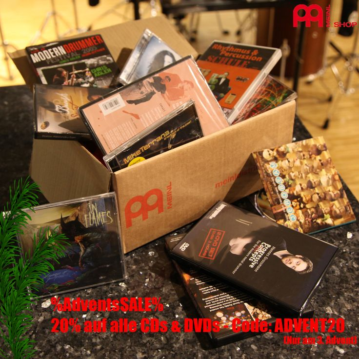 Big Advents Sales only in Sunday th 3rd Advent. 20% on all CDs & DVDs from our meinlshop.de ... CODE: ADVENT20 #meinlshop #adventskalender #meinl #sales #gift #xmas #advent #savemoney #voucher #cd #dvd #dvdsales #cdsales #dvds #bennygreb #thomaslang #inflames