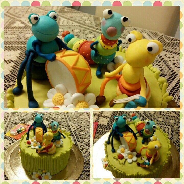 Big bug band cake