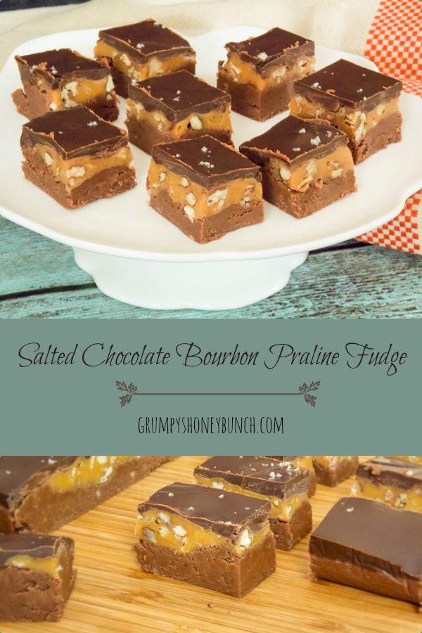 Salted Chocolate Bourbon Praline Fudge | Recipe | Fudge ...