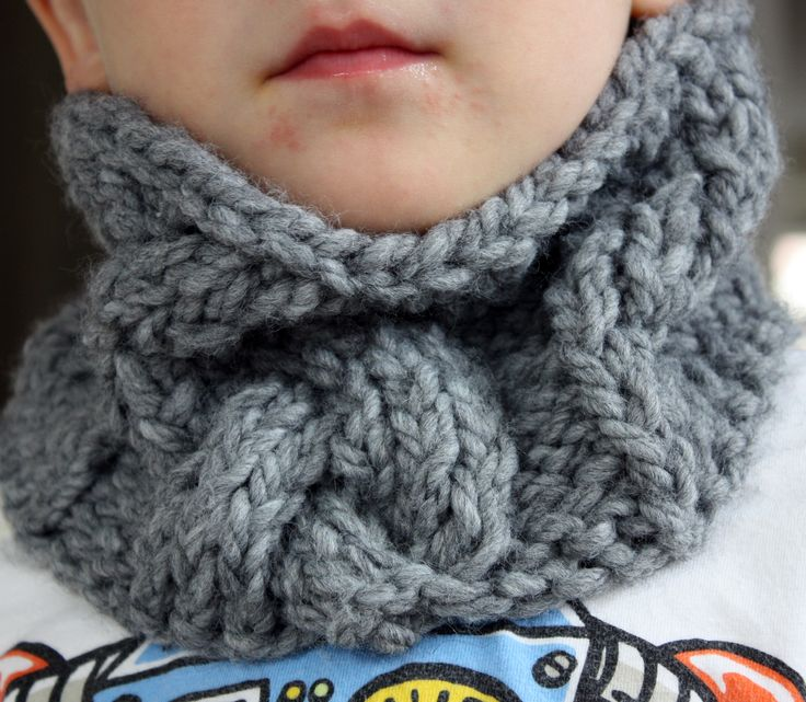 cabled cowl for the kiddos by kam - 3polakdots