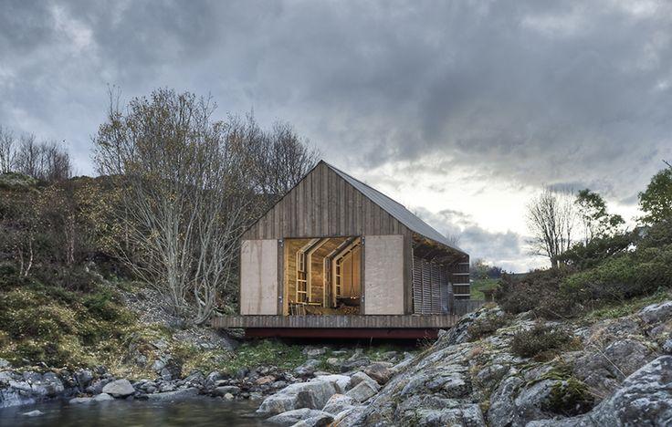 Naust paa Aure por Tyin architects, casa bote en Aure, Noruega